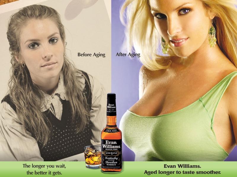 En åldrad whisky är en blondin med schyssta lökar. Höhöhöhöhö.
