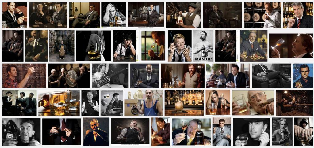 Riktiga karlar dricker whisky.