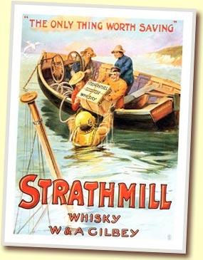 Reklambild för Strathmill single malt, hämtad från maltmadness.com.