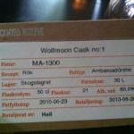 """Mackmyra privatfat, """"Wolfmoon cask no 1"""": vi vill ha mer sådant här, Mackmyra!"""