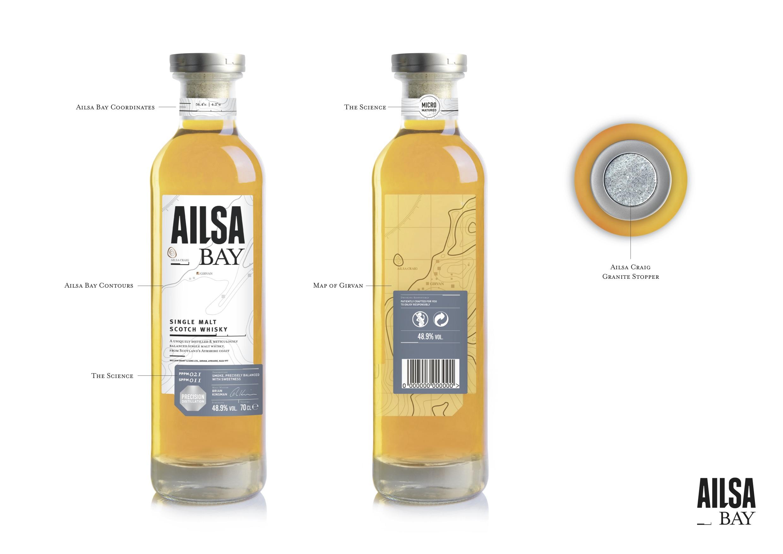 Aisla Bays första buteljering. Normalt struntar jag i design, men det här tycker jag är riktigt, riktigt tjusigt, faktiskt.