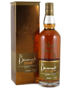 The Benromach Sassicaia wood finish.