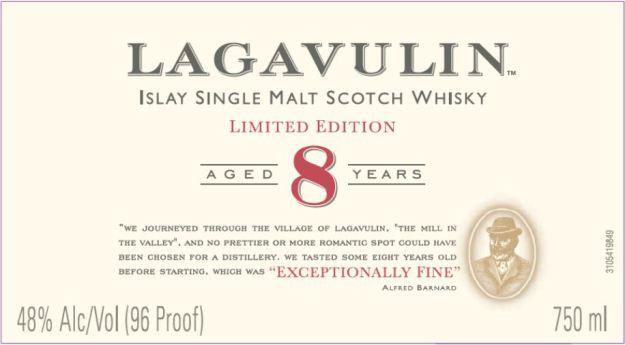 Den stiliga etiketten med citatet från Alfred Barnard som gav destilleriet en snygg story bakom tanken att släppa en åttaåring.