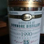 Bowmore 1990 15 YO Old malt cask